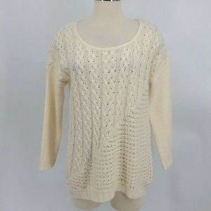 Lucky Brand Sweater Women's M Pullover Loose Knit